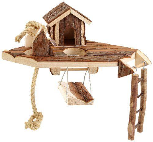 elmato 10522 waldspielplatz mit haus leiter schaukel und spielseil beliebte spielzeuge. Black Bedroom Furniture Sets. Home Design Ideas