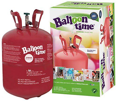 balloontime heliumflasche mit 250 liter ballongas gro e helium einwegflasche als partyzubeh r. Black Bedroom Furniture Sets. Home Design Ideas