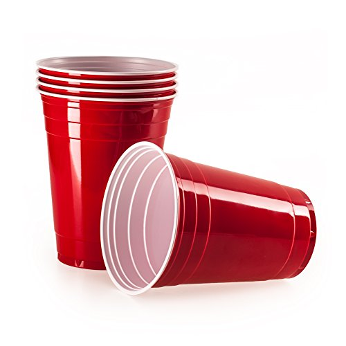 rote partybecher 100 st ck beer pong party cups extra starke bierpong becher rot. Black Bedroom Furniture Sets. Home Design Ideas