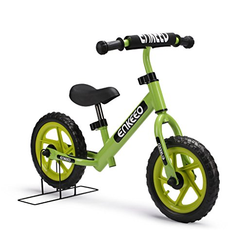 enkeeo laufrad lern fahrrad ab 2 jahren 12 zoll kinder fahrrad lauflernrad metalrahmen. Black Bedroom Furniture Sets. Home Design Ideas