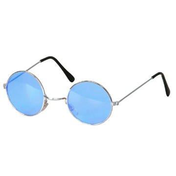 brille hippie runde blaue gl ser aus metall beliebte spielzeuge. Black Bedroom Furniture Sets. Home Design Ideas