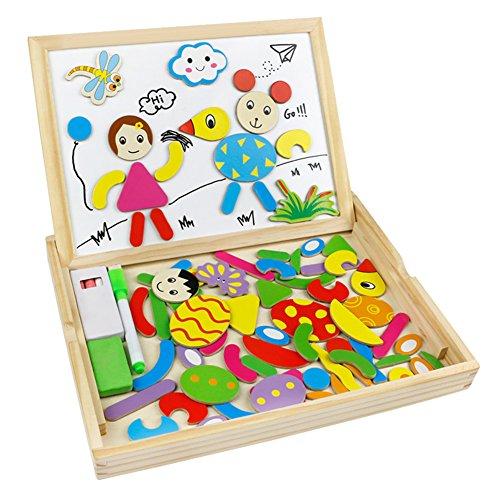 holzpuzzle magnetisches tafel doppelseitige holzspielzeug. Black Bedroom Furniture Sets. Home Design Ideas