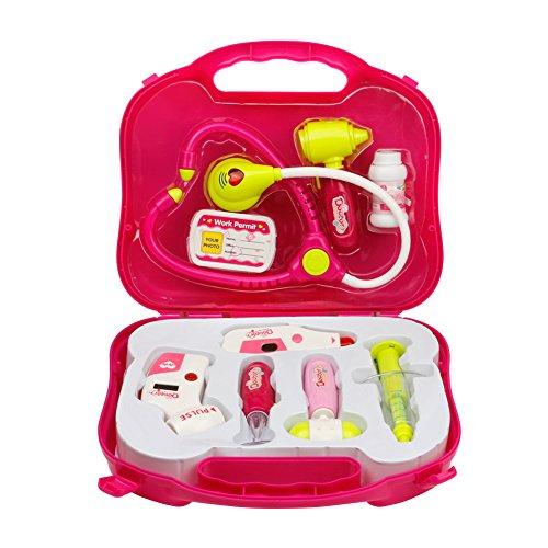 arztkoffer kinder m dchen rosa geschenk arztkoffer spielzeug ab 3 jahre beliebte spielzeuge. Black Bedroom Furniture Sets. Home Design Ideas