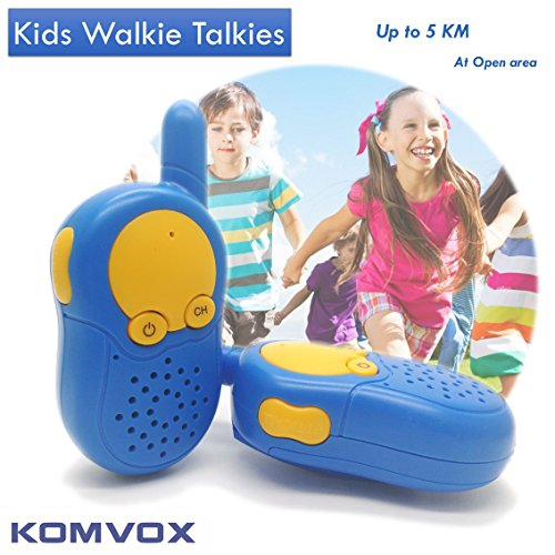 walkie talkie kinder blau ab 5 6 7 8 jahre walki talki 5 km woki toki f r kinder funkger t. Black Bedroom Furniture Sets. Home Design Ideas