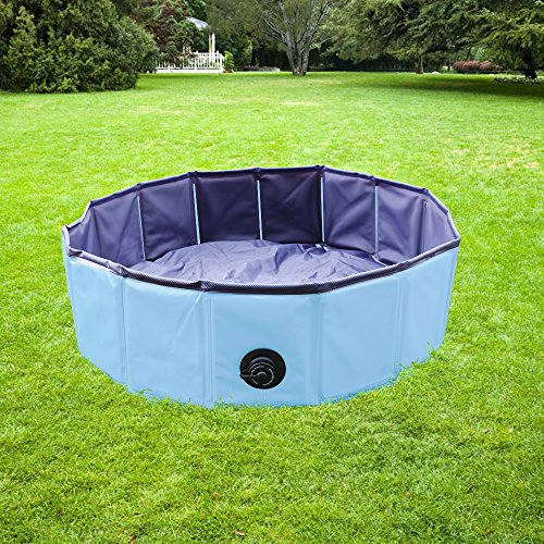 yaobluesea faltbarer hundepool doggy pool hunde pool badewanne umweltfreundliche pool f r. Black Bedroom Furniture Sets. Home Design Ideas