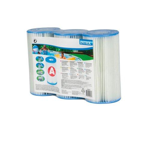 intex filterkartusche typ a 20 cm aussen 10 7 cm innen 4 7 cm 3er pack filter. Black Bedroom Furniture Sets. Home Design Ideas