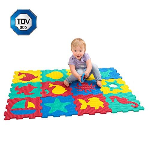 puzzlematte f r babys und kinder spielteppich 12 schaumstoffplatten in einer. Black Bedroom Furniture Sets. Home Design Ideas