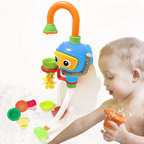 wishtime kinder wasser dusche badespielzeug badewanne brunnen spielzeug 3 stackable and. Black Bedroom Furniture Sets. Home Design Ideas