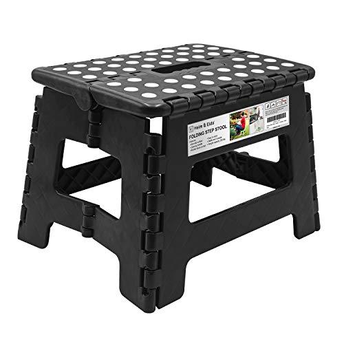 klappbarer hocker 30x22x23 cm bis 150 kg tragbarer rutschfester platzsparender hocker. Black Bedroom Furniture Sets. Home Design Ideas