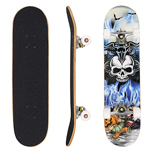 weskate skateboard komplett board 79x20cm holzboard. Black Bedroom Furniture Sets. Home Design Ideas
