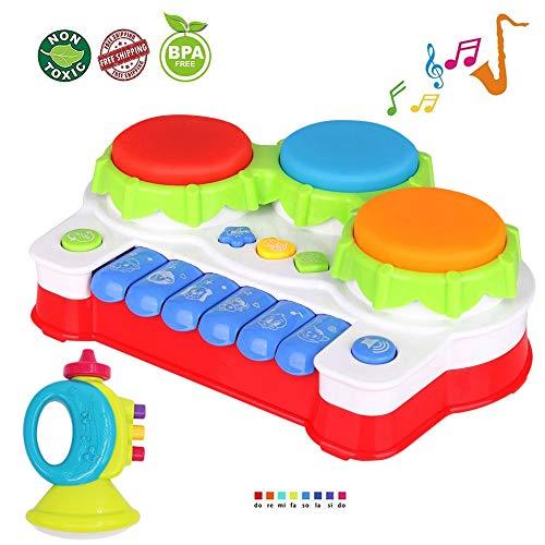 lukat baby spielzeug f r 1 jahr alt kleinkind und 6 12 monate baby klavier und trommel musik. Black Bedroom Furniture Sets. Home Design Ideas