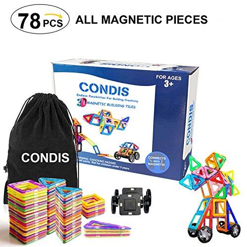 condis magnetische bausteine 78 teile magnetspielzeug magnete kinder magnetbausteine magnet. Black Bedroom Furniture Sets. Home Design Ideas
