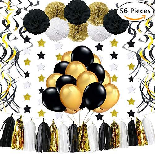 jonami silvester deko 2019 geburtstagsdeko geburtstag party deko gold dekoration 10. Black Bedroom Furniture Sets. Home Design Ideas