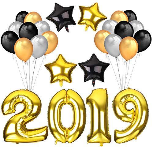 howaf silvester 2019 party deko set 40inch gold zahlen 2019 folien ballon xxl riesenballon. Black Bedroom Furniture Sets. Home Design Ideas