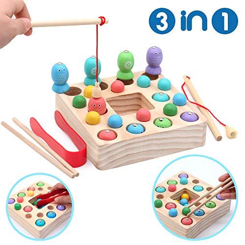 Mädchen Spielzeug 3 Jahre : symiu holzspielzeug angelspiel montessori lernspielzeug ~ A.2002-acura-tl-radio.info Haus und Dekorationen